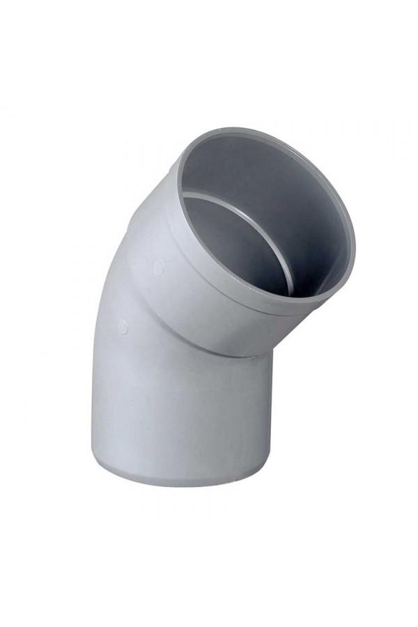 COUDE MALE FEMELLE 45° PVC