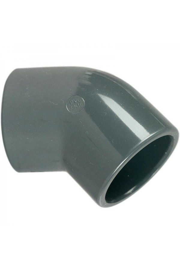 COUDE PVC PRESSION 45°